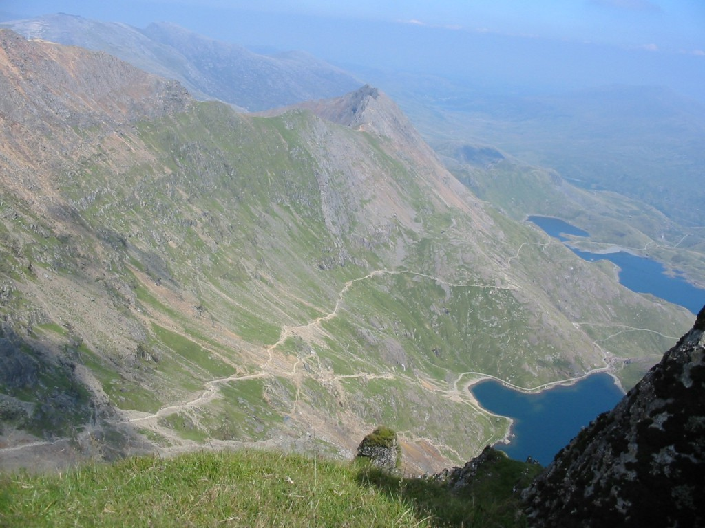 The view from Mount Snowdon, Wales